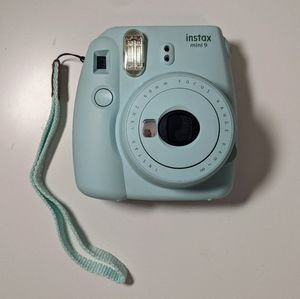 Ice Blue Fujifilm instax mini 9 with case